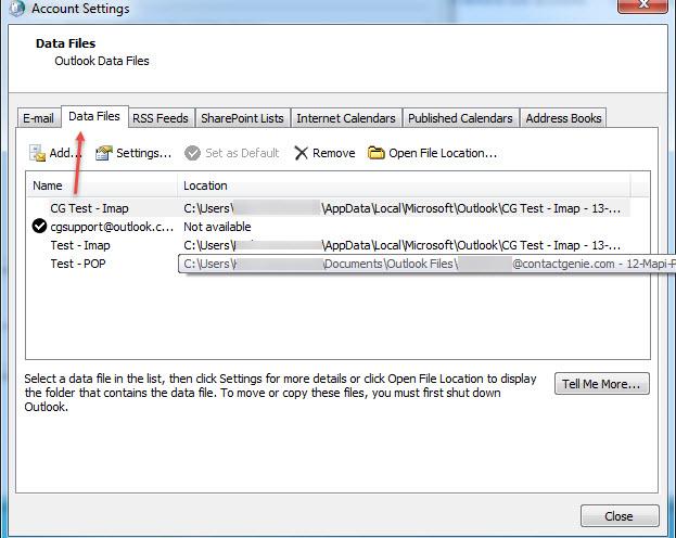 Understanding Outlook Migration – Part 2 – Data Files